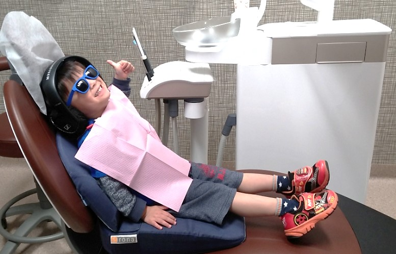 special chair to child dental treatment