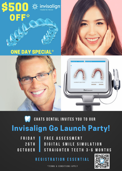 invisalign Go launch day invitaion