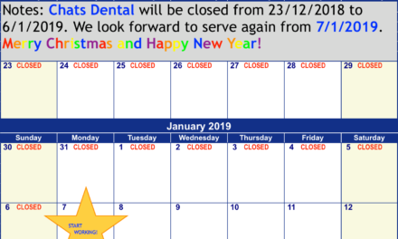 Closed from 23/12/2018 to 6/1/2019